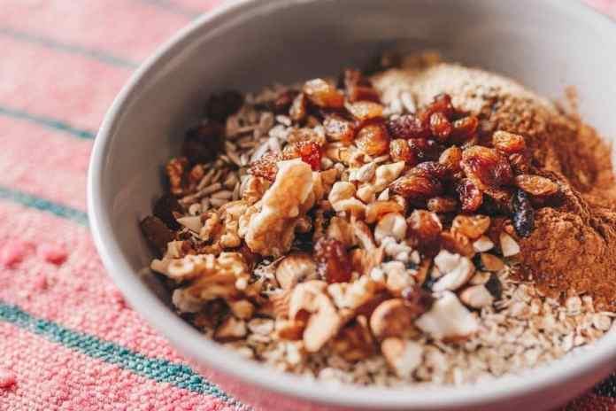 Cherry-Almond Cookie Dough Oatmeal