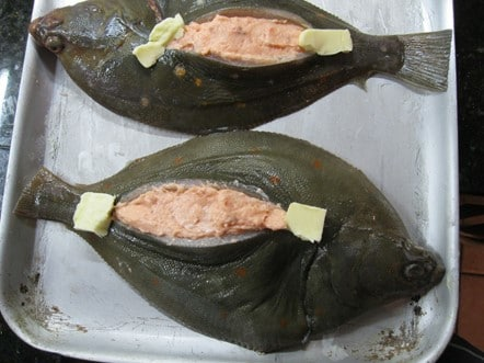 Whole Plaice Stuffed with Salmon Mousse