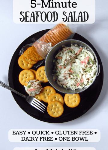 5 Minute Seafood Salad | Food Drinks Life