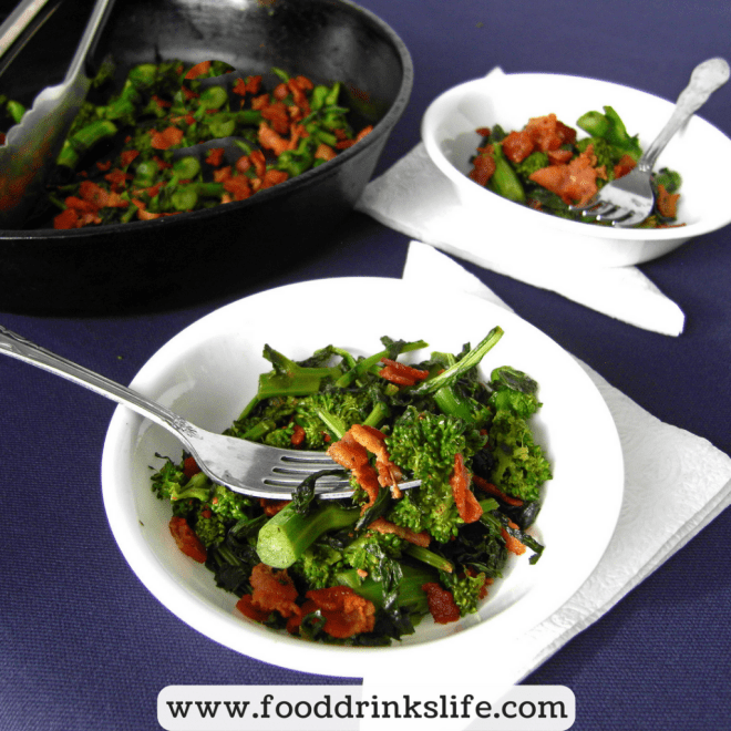 Better with Bacon: One Pan Bacon Broccoli Rabe | Food Drinks Life