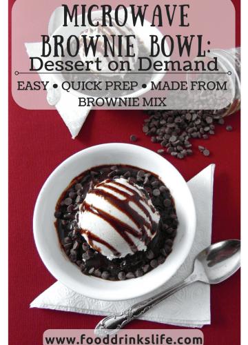 Microwave Brownie Bowl: Dessert on Demand | Food Drinks Life