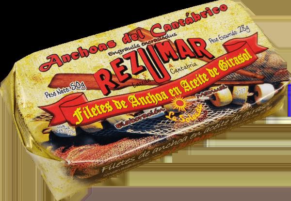 Acciughe del Cantabrico in olio di girasole - Rezumar