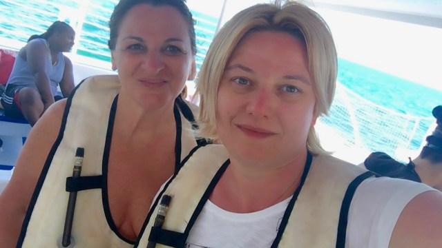 Due viaggiatrici: Moira e Raffaella pronte per lo Snorkeling