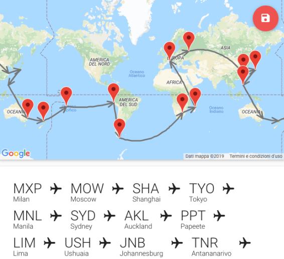 Come fare il giro del mondo e spendere relativamente poco. Questo è la nostra simulazione