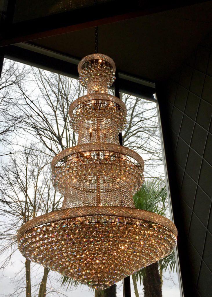 lampadario di cristallo lait garden