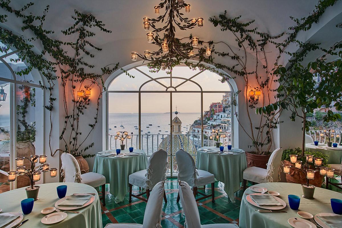 Positano: l'Hotel Le Sirenuse e il ristorante La Sponda