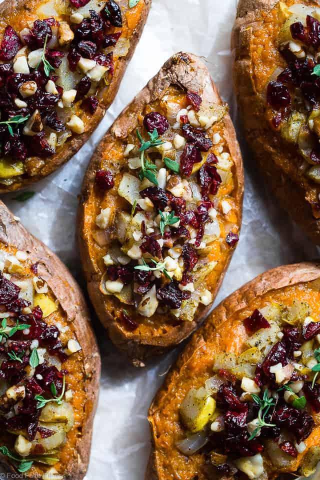 Harvest Paleo Vegan Stuffed Sweet Potatoes | Food Faith ...