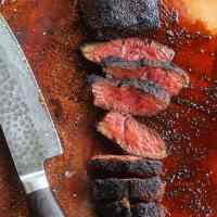 """best kept secret"" coffee rubbed hanger steak"