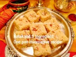 Kalakand- 3 Ingredient, One pan, Microwave Recipe-Indian fudge Recipe