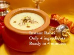 Instant Rabri-Only 4 ingredients and 4 minute recipe