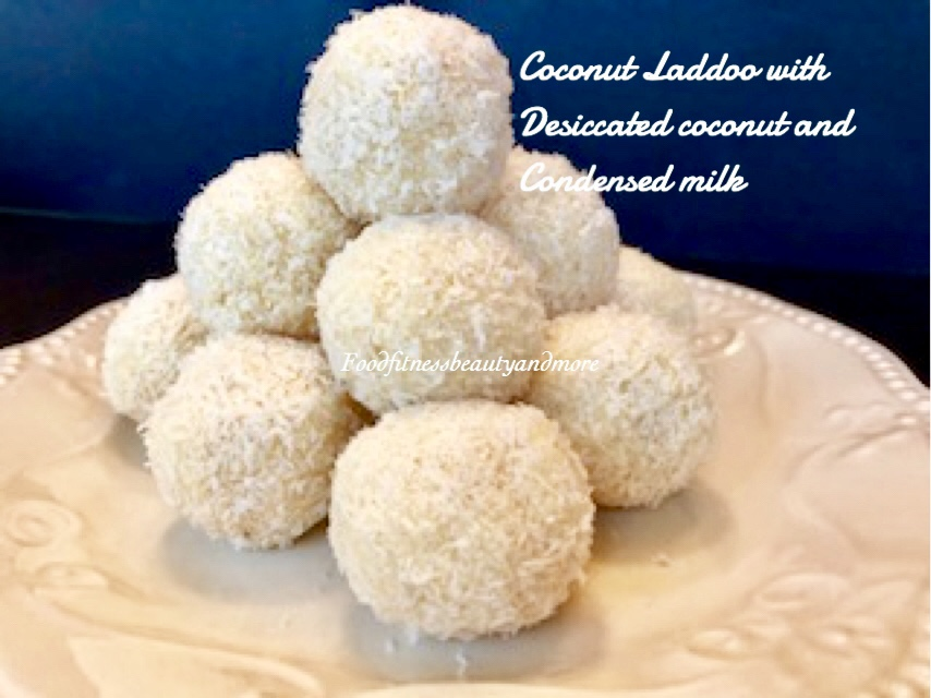 dessert recipe using desiccated coconut Coconut Laddoo-Made with Desiccated Coconut and Condensed Milk