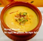 Mango Mousse-No Eggs,Gelatin or Agar Agar