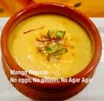 Mango Mousse-No Eggs,Gelatin or Agar Agar