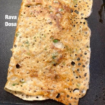 Onion Rava Dosa on Electric Griddle