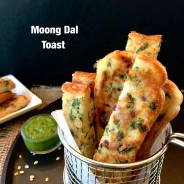 Moong Dal Toast-Vegan High Protein Breakfast