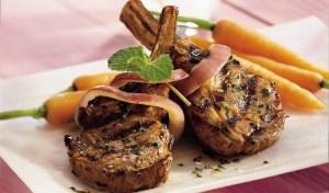 Grilled Mint Wine Lamb Chops-foodflag