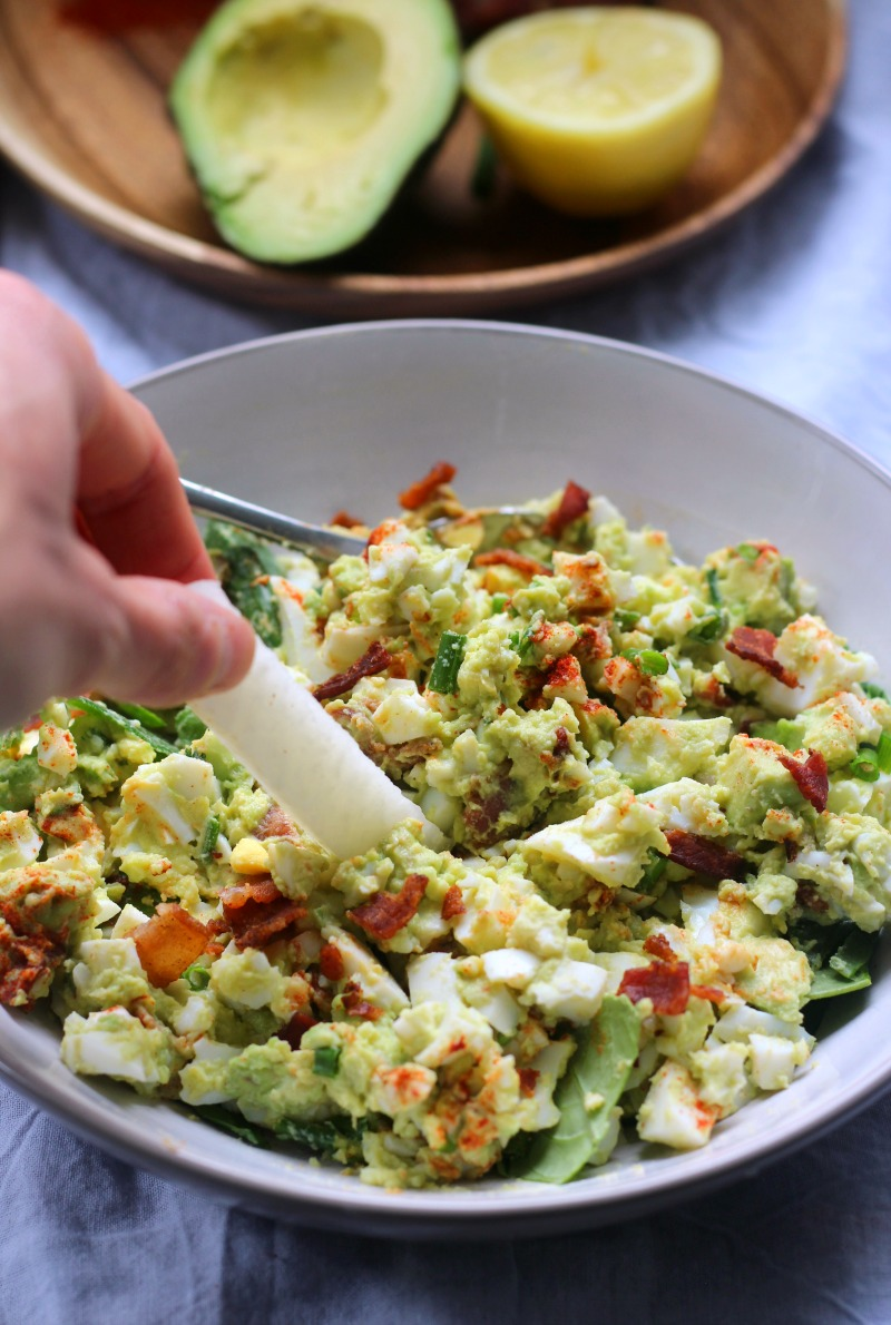 Deviled Avocado Egg Salad