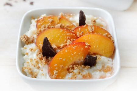 A sweet twist to risotto with peaches