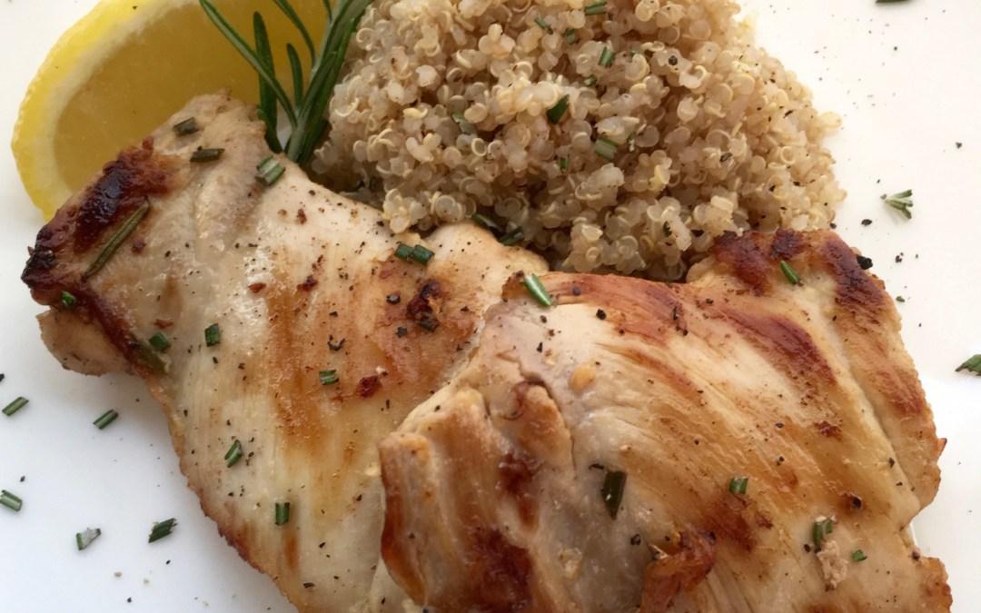 Rosemary Lemon Boneless Chicken Thighs