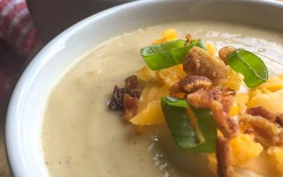 Loaded  Chilled  Cauliflower-Leek  Soup