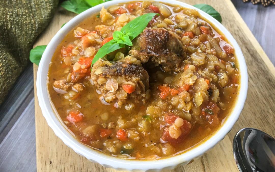 Chorizo & Red Lentil Soup
