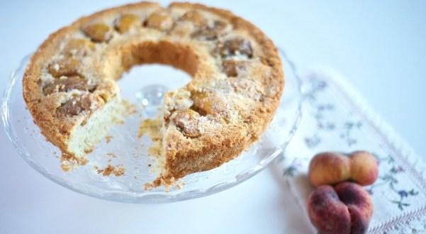Torta Pesche e Mandorle glutenfree