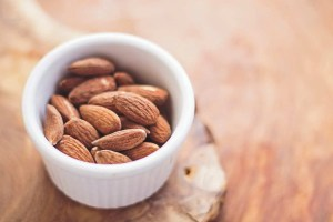 Almonds are also good to tame your appetite.
