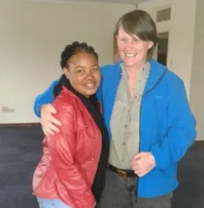 Founder Judy Stuart welcomes back Future Farmer Sizo Zakwe, after her 12 month internship in Australia.