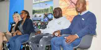 The third panel discussion at the fourth Annual AFASA Young Farmers Summit focused on running profitable agribusinesses. From left is Bridgit Evans (SAB Foundation), Thabi Nkosi (Agribusiness Investment Strategist), Tumelo Siliga (Young Farmer) and Vusi Mlambo (RSA Group).