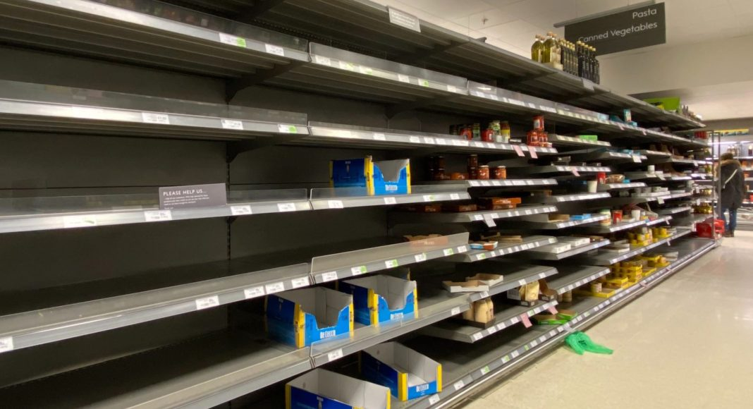 South Africans are in a shopping frenzy as they scramble for essentials in Covid-19 pandemic.