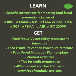 food fraud SQF FSSC BRC