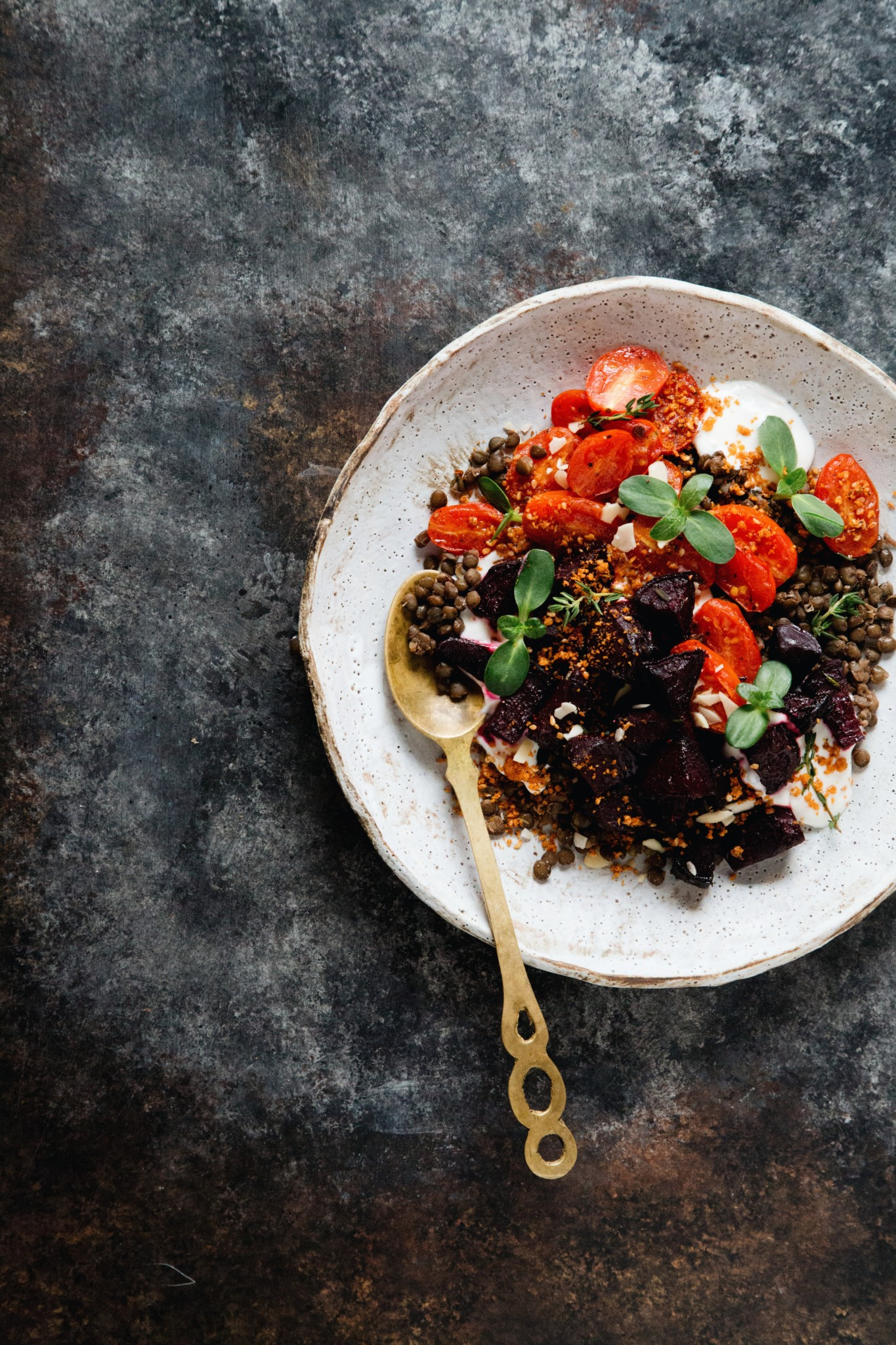 THE FOOD GAYS - Roasted Beet and Tomato with Lentils and Yogurt