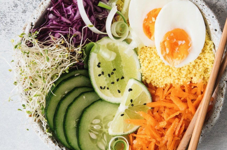 THE FOOD GAYS - Turmeric Couscous Glory Bowl
