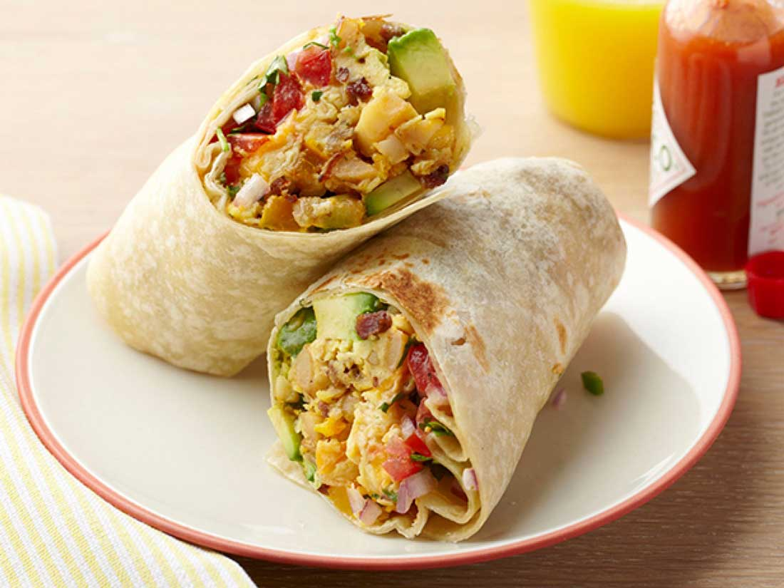 mexicaanse wrap ontbijt