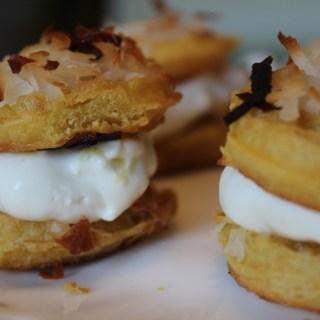 Pina Colada Waffle Cookie