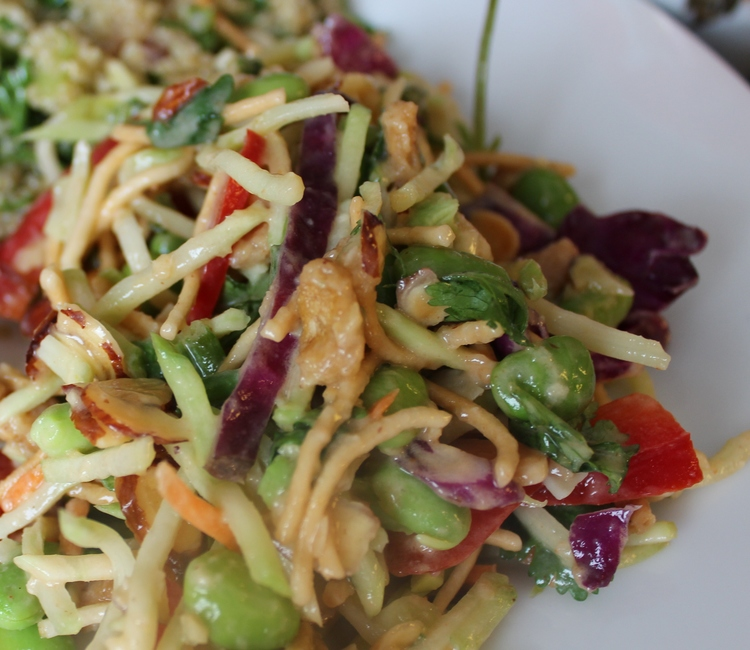 241 Asian Broccoli Slaw with Peanut Dressing