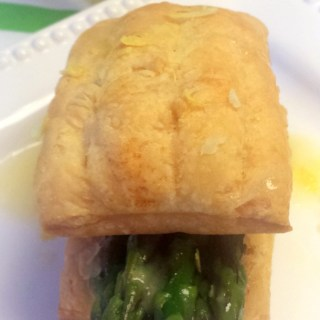 Asparagus Tips in Puff Pastry with Lemon Butter