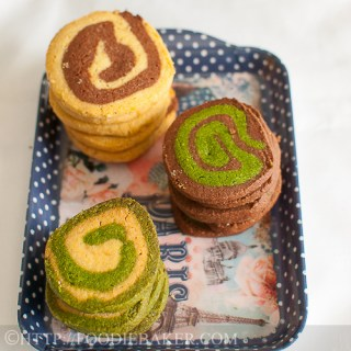 Spiral Ice Box Cookies [Vanilla, Chocolate, Matcha]