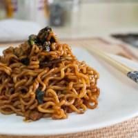 Jjapaguri (Jjapaghetti and Neoguri Instant Noodles)