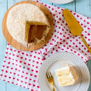 Piña Colada Cake (Egg Yolk Cake + Pineapple Filling + Rum Swiss Meringue Buttercream)