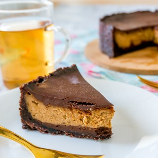 Coffee Cheesecake with Chocolate Ganache