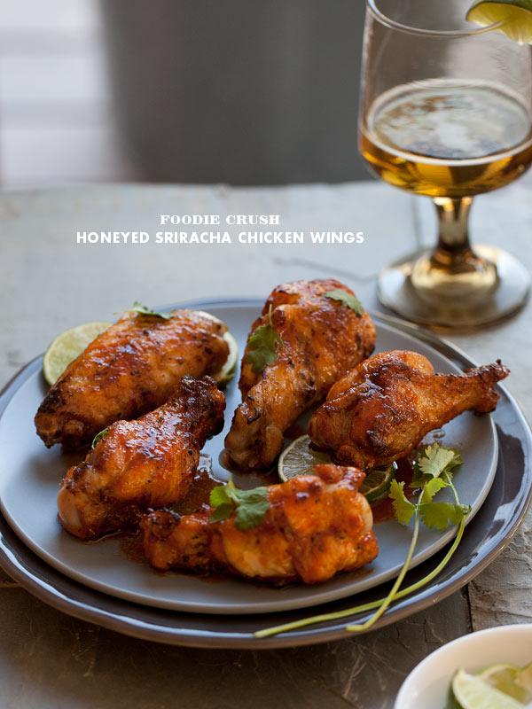 Foodie Crush Sriracha Chicken Wings recipe