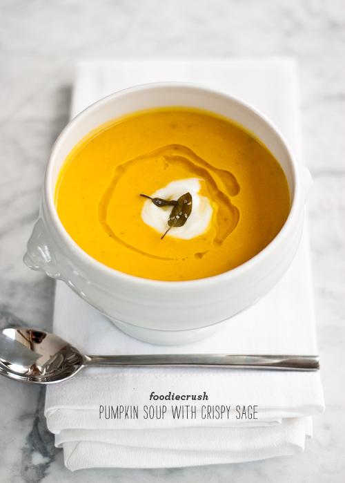 Pumpkin Soup with Crispy Sage