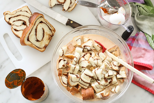 pumpkin bread pudding ingredients