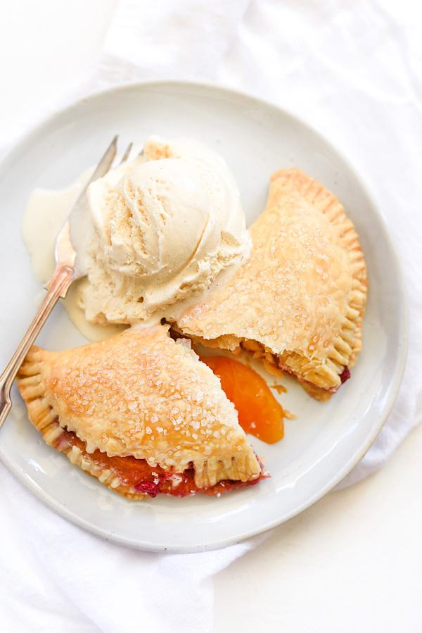 Raspberry Peach Hand Pies   foodiecrush.com #recipes #sweet #peach