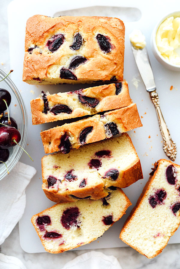 Cherry and Almond Quick Bread | #recipes #easy #sweet foodiecrush.com