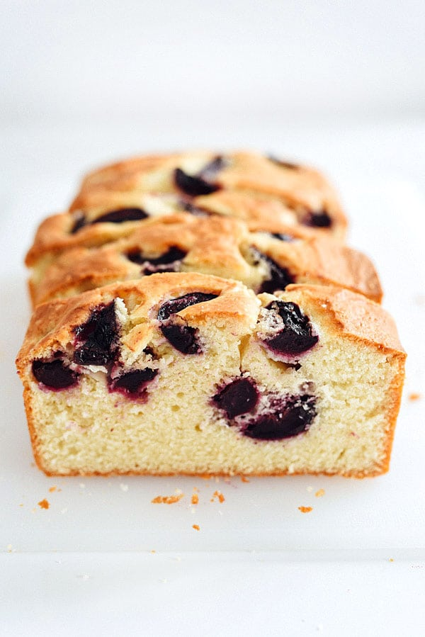 Cherry and Almond Quick Bread on foodiecrush.com