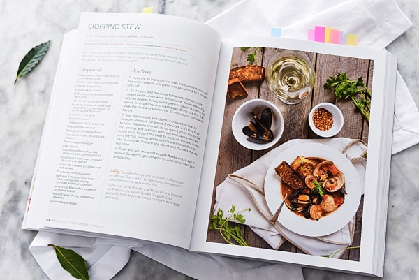 Lexi's clean kitchen cookbook open to a recipe