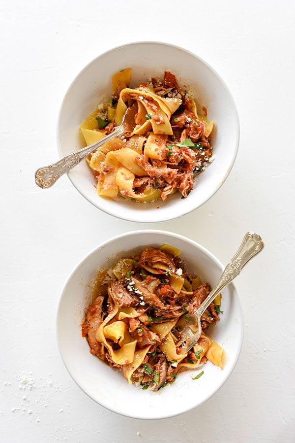 Slow Cooker Chicken Cacciatore | foodiecrush.com