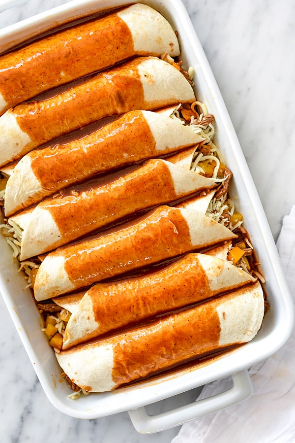 Beef Enchiladas With Butternut Squash | foodiecrush.com